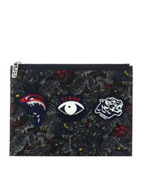 KENZO | Black Printed Pouch | Lyst