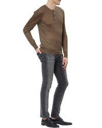 Tom Ford - Brown Superfine Long Sleeved Henley for Men - Lyst