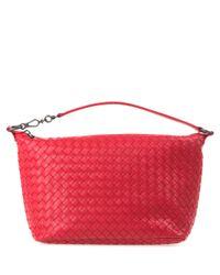 Bottega Veneta | Red Intrecciato Nappa Leather Shoulder Bag | Lyst
