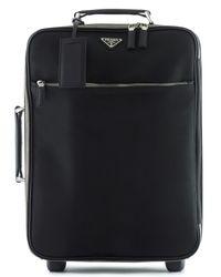 Prada | Black Nylon Carry-on Trolley Bag for Men | Lyst