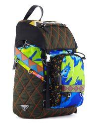 53abfa1824a13d Lyst - Prada Quilted Radar Print Nylon Backpack for Men