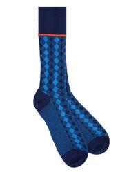 Prada - Blue Socks Cotone Micro Damier for Men - Lyst