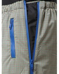 Prada Multicolor Side Zip Check Wool Trousers for men