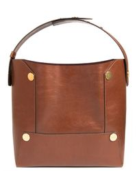 Stella McCartney | Brown Textured Faux Nappa Leather Alter Bucket Bag | Lyst