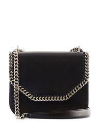 Stella McCartney | Black Faux-nappa Leather Falabella Box Shoulder Bag | Lyst