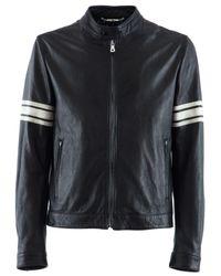 Dolce & Gabbana | Black Nappa Leather Jacket for Men | Lyst