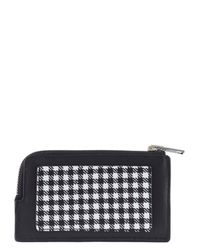Alexander Wang - Black Houndstooth And Plaid Leather Cardholder - Lyst