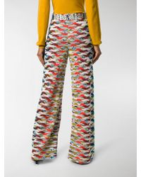 Missoni - Yellow Geometric Knitted Trousers - Lyst