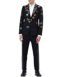 Alexander McQueen - Black Badge Appliqué Blazer for Men - Lyst