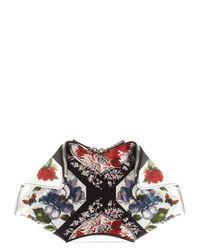 Alexander McQueen   Multicolor Floral Print Small Demanta Clutch   Lyst