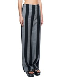 Alexander Wang - Black Striped Trousers - Lyst