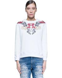 Alexander McQueen - Pink Embroidered Sweatshirt - Lyst