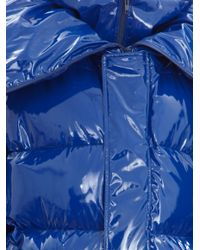 Vetements | Blue Oversized Shiny Nylon Puffer Jacket | Lyst