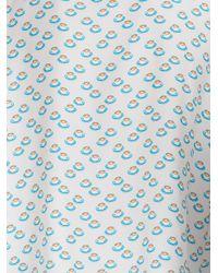 Fendi - Blue Cappuccino Print Shirt for Men - Lyst