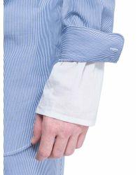 3.1 Phillip Lim - Blue Shirt With Trompe L'oeil Cuffs for Men - Lyst