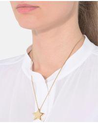 Stella McCartney - Yellow Brass Star Necklace - Lyst