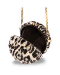 Stella McCartney - White Alter Fur Leopard Shoulder Bag - Lyst