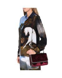 Stella McCartney - Red Velvet Falabella Shoulder Bag - Lyst