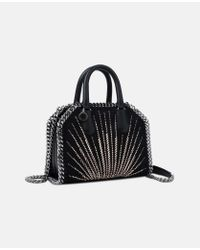 Stella McCartney - Black Falabella Box Mini Eco Suede Top Handle Bag - Lyst