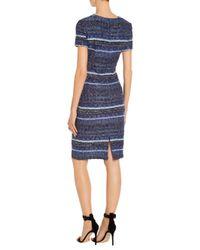 St. John - Blue Sale Eva Tweed Knit Dress - Lyst