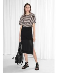 & Other Stories | Black Ribbed Skirt | Lyst