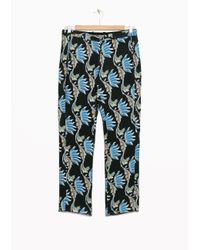 & Other Stories | Blue Water Lily Tailored Crop Trousers | Lyst