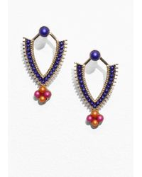 & Other Stories - Blue Pearlescent Earrings - Lyst