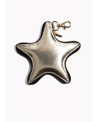 & Other Stories - Metallic Star Leather Keyring - Lyst