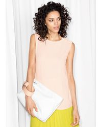 & Other Stories - Natural Button Shoulder Tank - Lyst