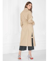 & Other Stories - Natural Stand-up Collar Trench Coat - Lyst