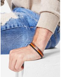 Stradivarius | Multicolor Bracelet With Leather Straps for Men | Lyst