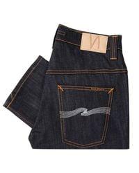 Nudie Jeans   Blue Nudie Thin Finn Organic Dry Ecru Embo Denim Jeans for Men   Lyst