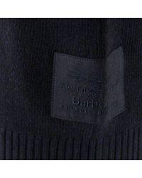 Barbour - Blue Staple Crew Navy Wool Jumper for Men - Lyst