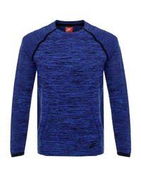 Nike | Blue Tech Knit Crew Navy Ls T-shirt 728673 for Men | Lyst