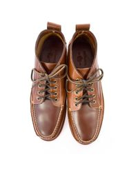 G.H.BASS - Bass Ranger Pull Up Mid Brown Leather Boots for Men - Lyst