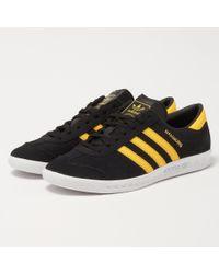 Lyst - adidas Originals Hamburg - Black   Yellow in Black for Men d828cfaf9