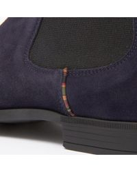 Paul Smith - Blue Paul Smith Dark Navy Suede 'falconer' Chelsea Boots for Men - Lyst