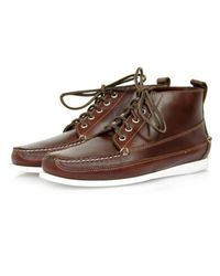 G.H.BASS - Rangel Pull Up Dark Brown Shoes for Men - Lyst