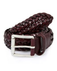 Andersons - Multicolor Andersons Braided Bordeaux Belt - Lyst