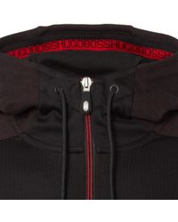 BOSS Athleisure - Black Saggy Hooded Jacket for Men - Lyst