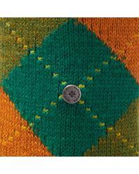 Burlington - Green & Orange Preston Socks for Men - Lyst
