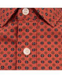 Dockers - Alpha Laundered Orange Shirt for Men - Lyst