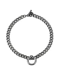 Mawi | Metallic Bondage Chain Necklace With Nipple Ring | Lyst