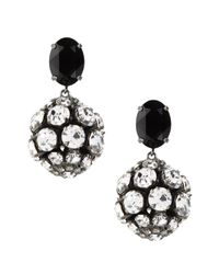 Marni | Black Round Earrings In Stone And Glass | Lyst