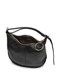 Nina Ricci - Black Leather Hobo Bag - Lyst