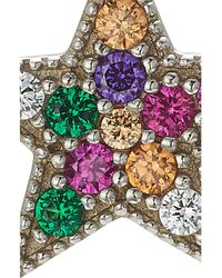 Marc Jacobs - Metallic Embellished Silver Rainbow Star Stud - Lyst