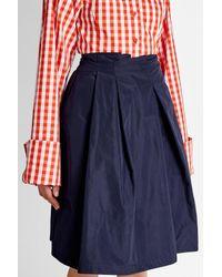 Jil Sander Navy | Blue Pleated Mini Skirt | Lyst