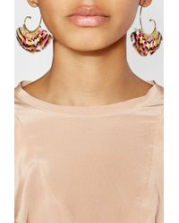 Gas Bijoux - Metallic Buzios 24k Gold Plated Earrings With Feathers - Lyst