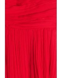 Roberto Cavalli - Red Floor Length Silk Gown - Lyst