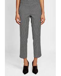 Max Mara - Gray Printed Pants With Wool - Lyst